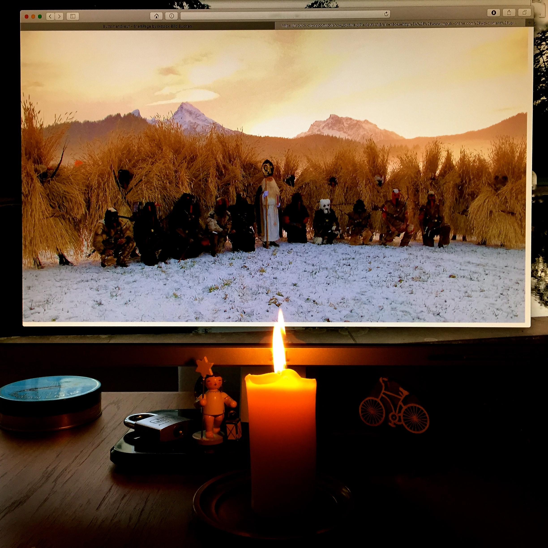 Von meinem Bildschirm abfotografiertes Bild der Aufstellung zum Buttnmandllauf