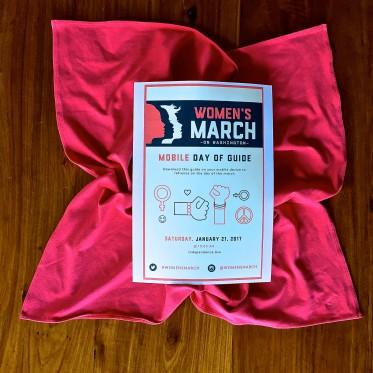 Der DAY-OF GUIDE ist auf der Webseite des Women's March zu finden