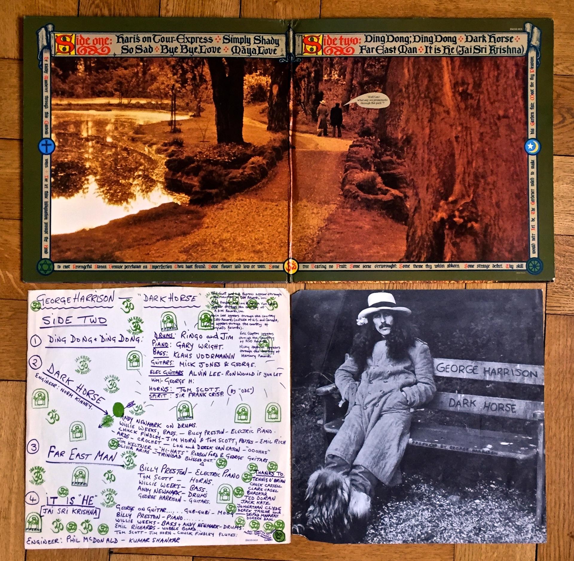 Bild meiner ersten LP: Dark Horse, George Harrison, 1974